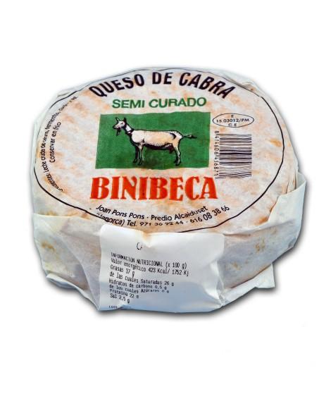 Queso artesano de cabra Binibeca