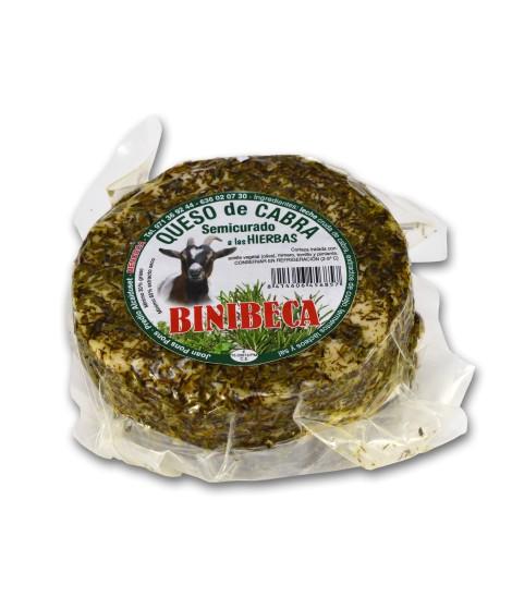 Queso artesano de cabra con hierbas Binibeca